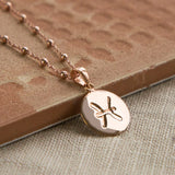 Rose Gold Plated Pisces Star Sign Necklace