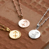 Sterling Silver Sagittarius Star Sign Necklace