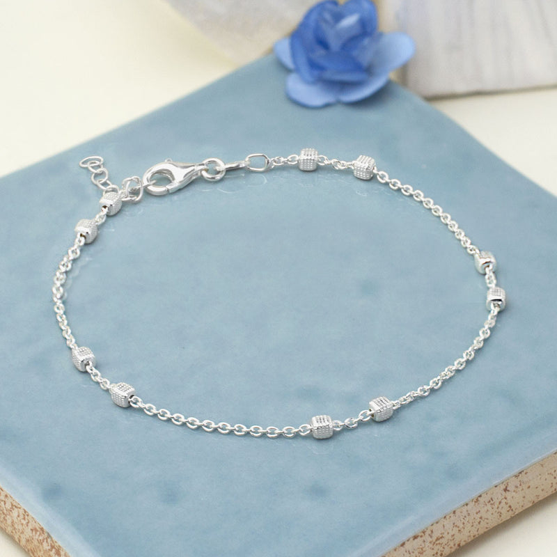 Sterling Silver Delicate Boxes Bracelet