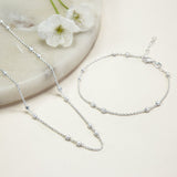 Sterling Silver Delicate Boxes Necklace