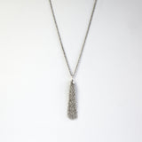 Sterling Silver Crystal Double Necklace