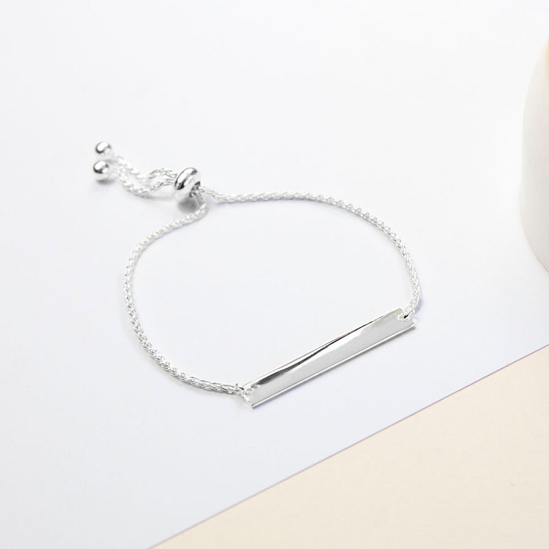 Engravable Sterling Silver Adjustable Identity Bracelet