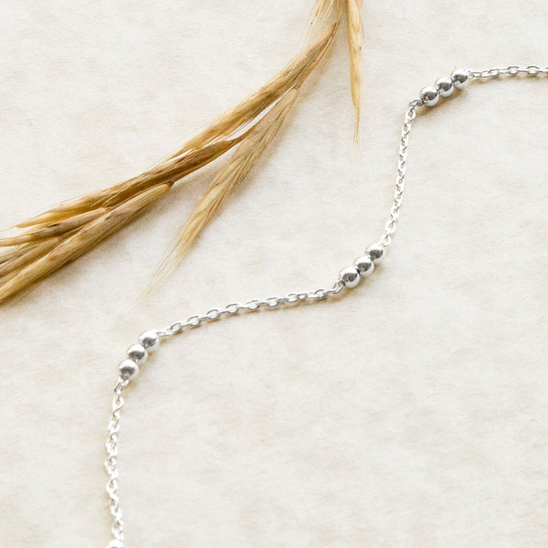 Sterling Silver Triple Ball Anklet