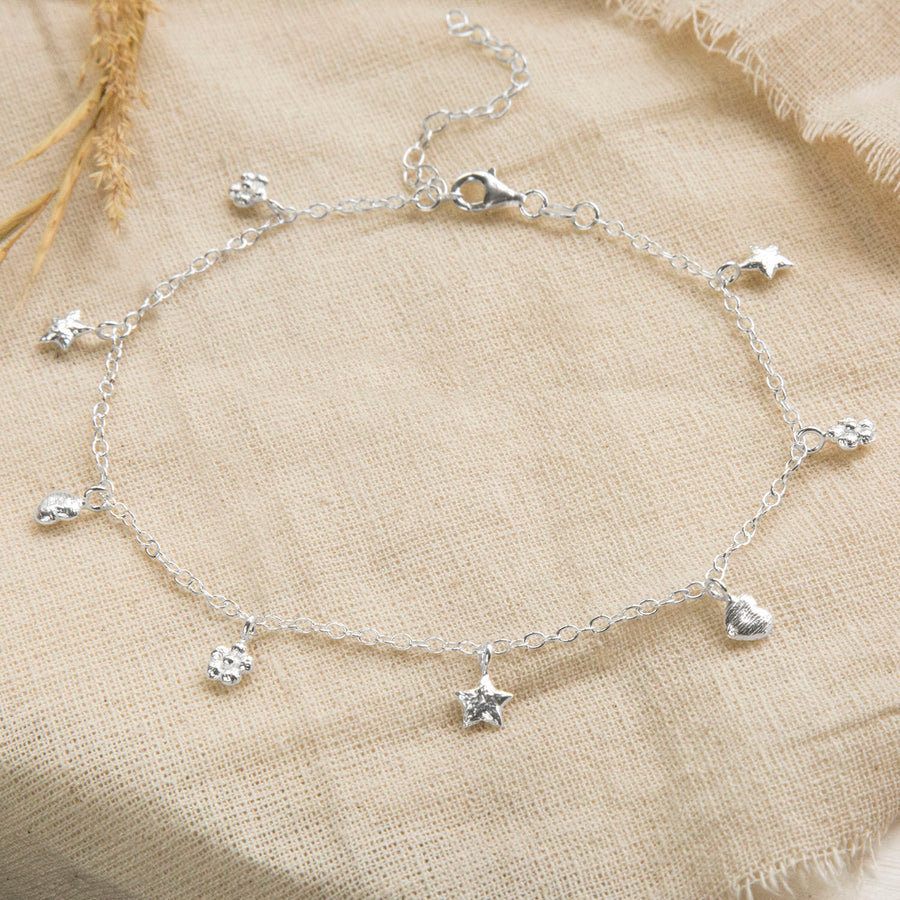 Sterling Silver Beach Lover Anklet