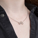 Sterling Silver Pavé Bicycle Necklace