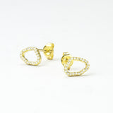 Sterling Silver Pavé Freeform Loop Earrings