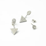 Sterling Silver Pavé Two Way Ear Jackets