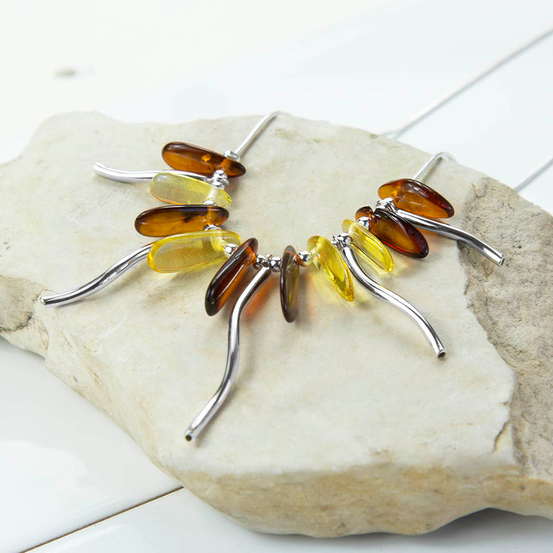 Sterling Silver Amber Dreams Necklace