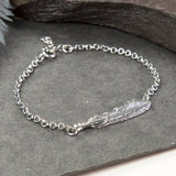 Oxidised Sterling Silver Feather Bracelet