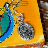 Sterling Silver Oval St Christopher