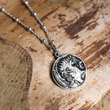 Sterling Silver Apollo Coin Necklace