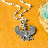Sterling Silver Egyptian Horus Necklace
