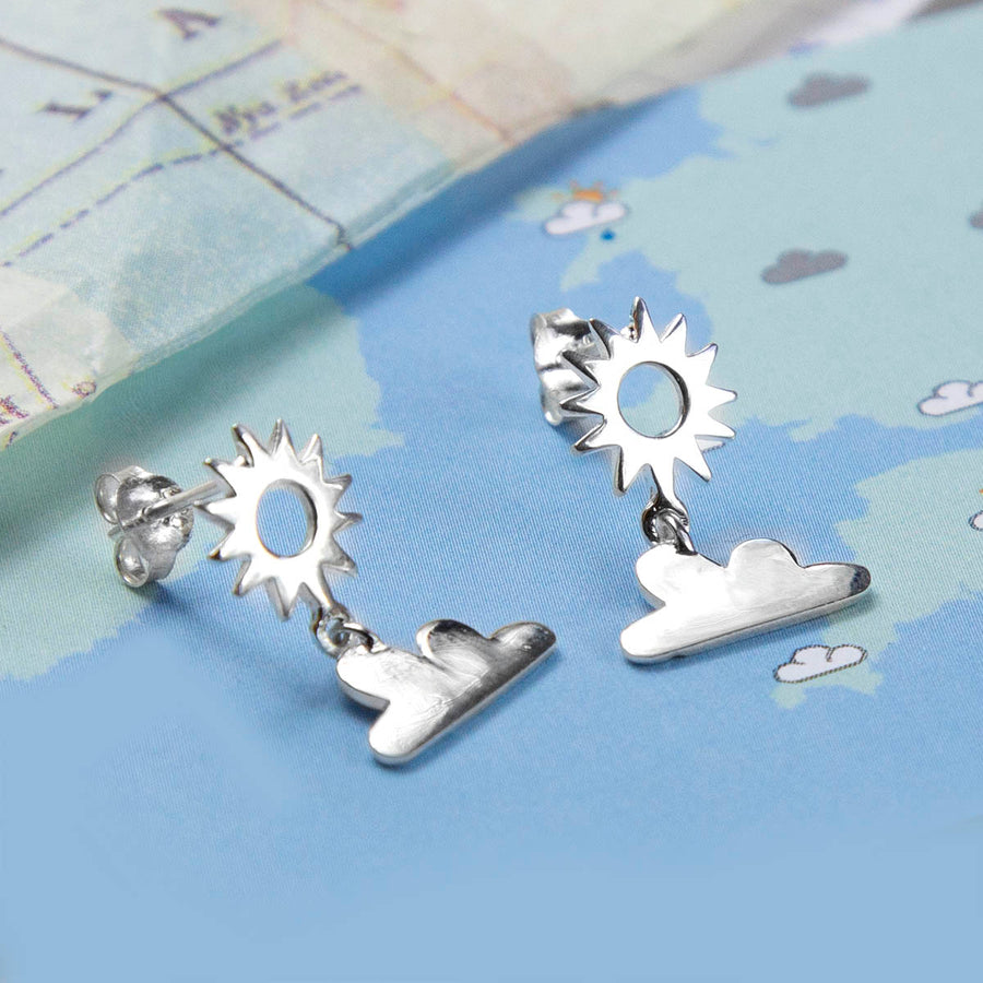 Sterling Silver Sunny Weather Stud Earrings