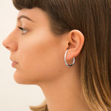 Sterling Silver Contemporary Curl Stud Earrings