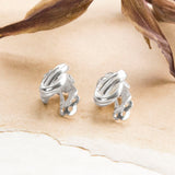 Sterling Silver Clip On Knot Earrings