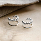 Sterling Silver Bobble Ear Cuffs