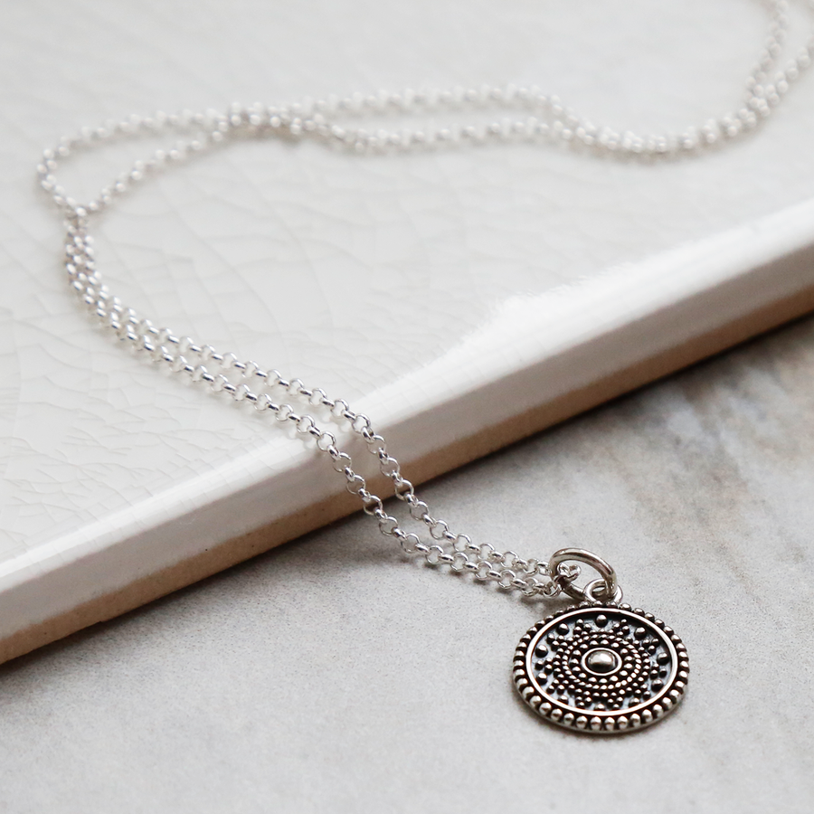 Oxidised Sterling Silver Marrakech Necklace