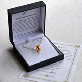 Gold Plated Meteorite Ring Necklace