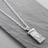 Silver Tipped Meteorite Necklace