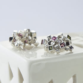 Sterling Silver And Tourmaline Earrings