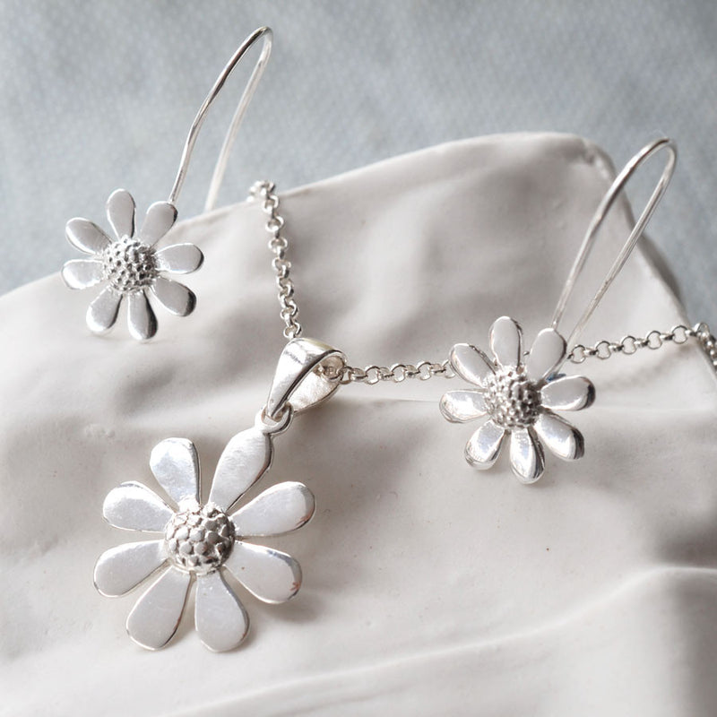 Sterling Silver Contemporary Daisy Set by Martha Jackson