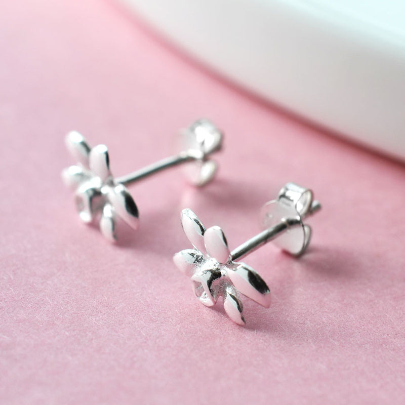 Sterling Silver Daffodil Stud Earrings by Martha Jackson