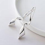 Sterling Silver Dancing Ribbon Earrings by Martha Jackson