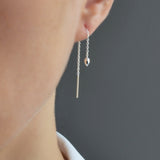 Sterling Silver Heart Chain Earrings by Martha Jackson