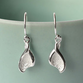 Sterling Silver Lily Leaf Earrings by Martha Jackson
