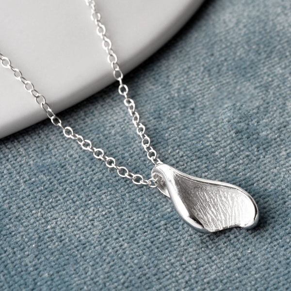 Silver Lily Leaf Necklace