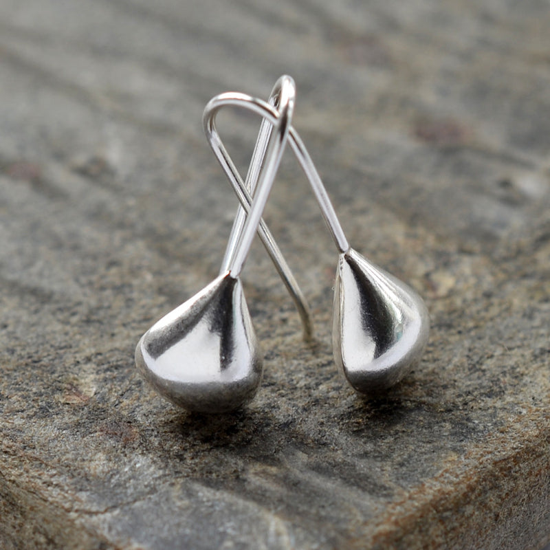 Sterling Silver Tear Drop Earrings by Martha Jackson