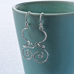 Silver Urban Free Form Earrings