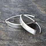 Silver Urban Shield Earrings by Martha Jackson