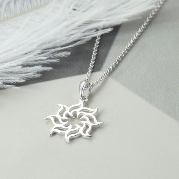 Sterling Silver Fire Star Necklace