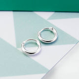 Sterling Silver Set of Three Different Sized Hoop Earrings / 1.8mm thick / 10mm, 12mm and 14mm sleepers / super saver pack