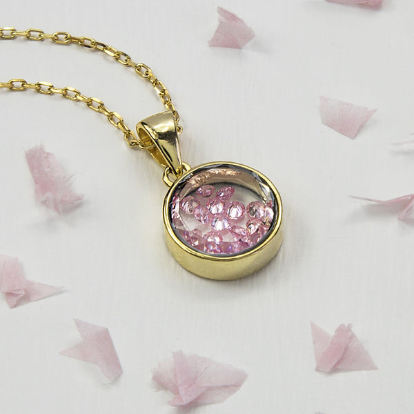 Sterling Silver and Gold Glass Locket