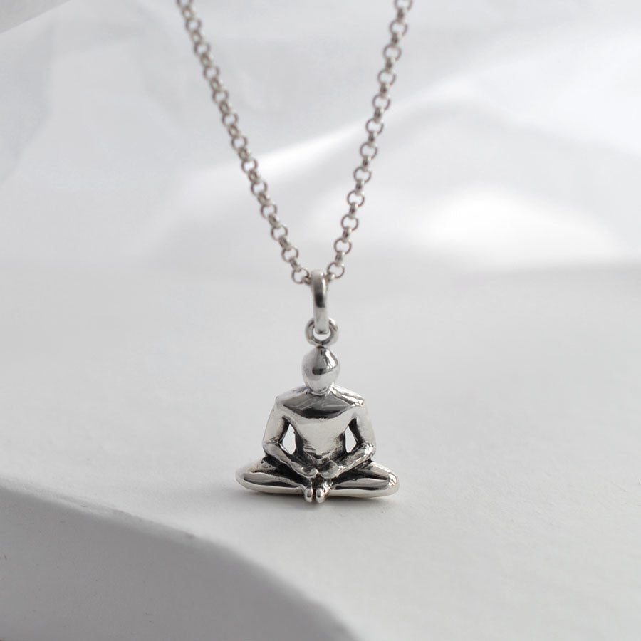 Sterling Silver Baddha Konasana Necklace
