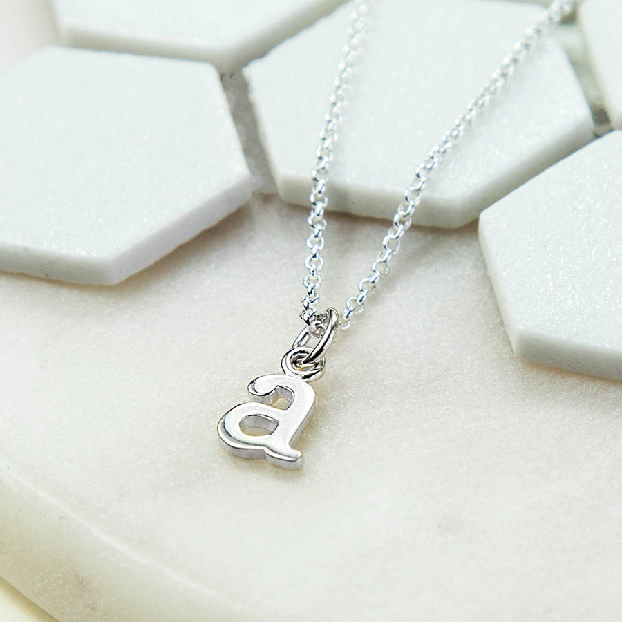 Sterling Silver Initial Letter Necklace