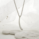 Sterling Silver and Diamond Drop Necklace