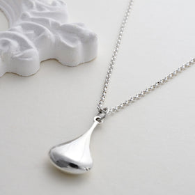 Sterling Silver Pear Drop Necklace