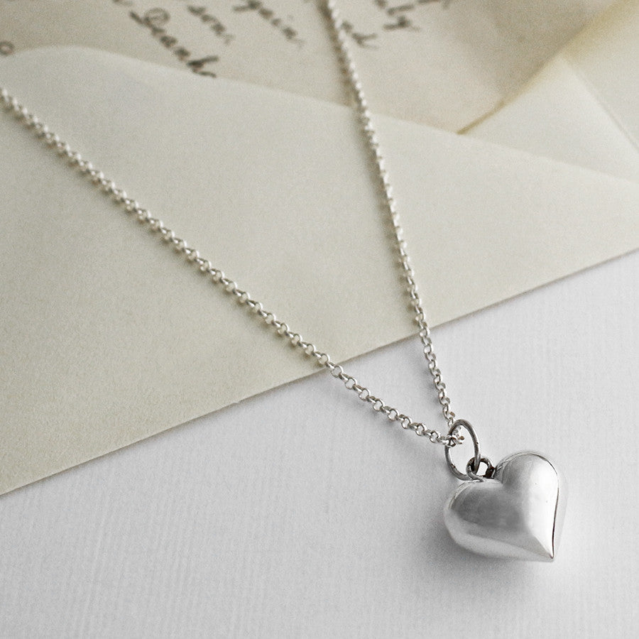 Sterling Silver Love Heart Necklace