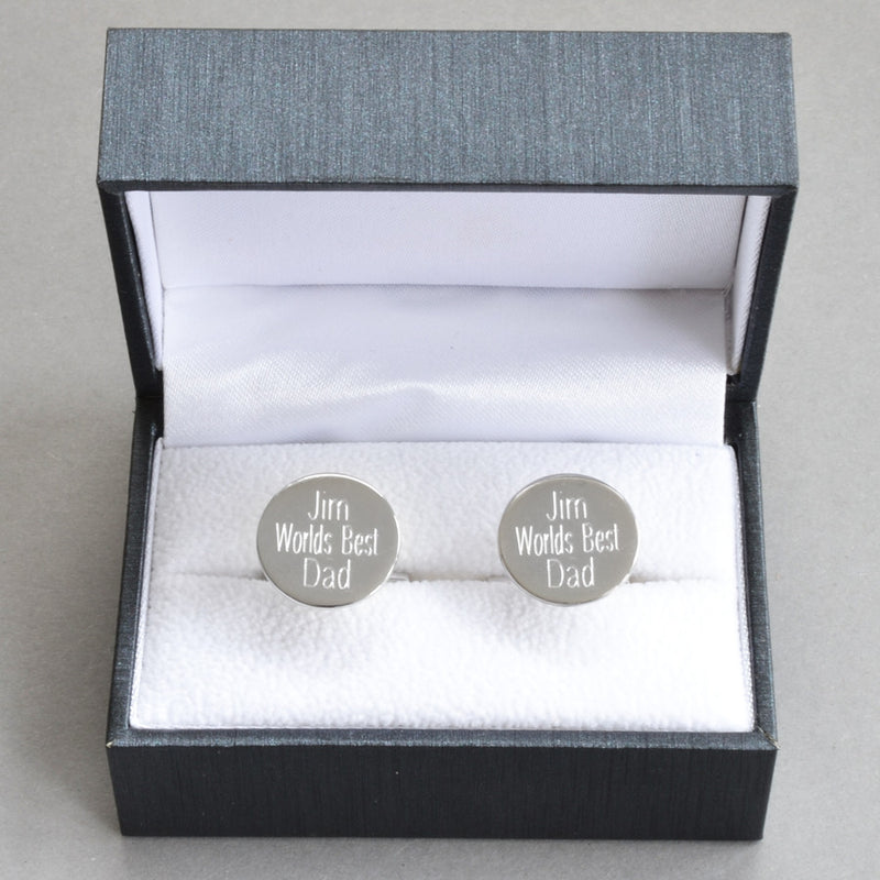 Sterling Silver Disc Cufflinks