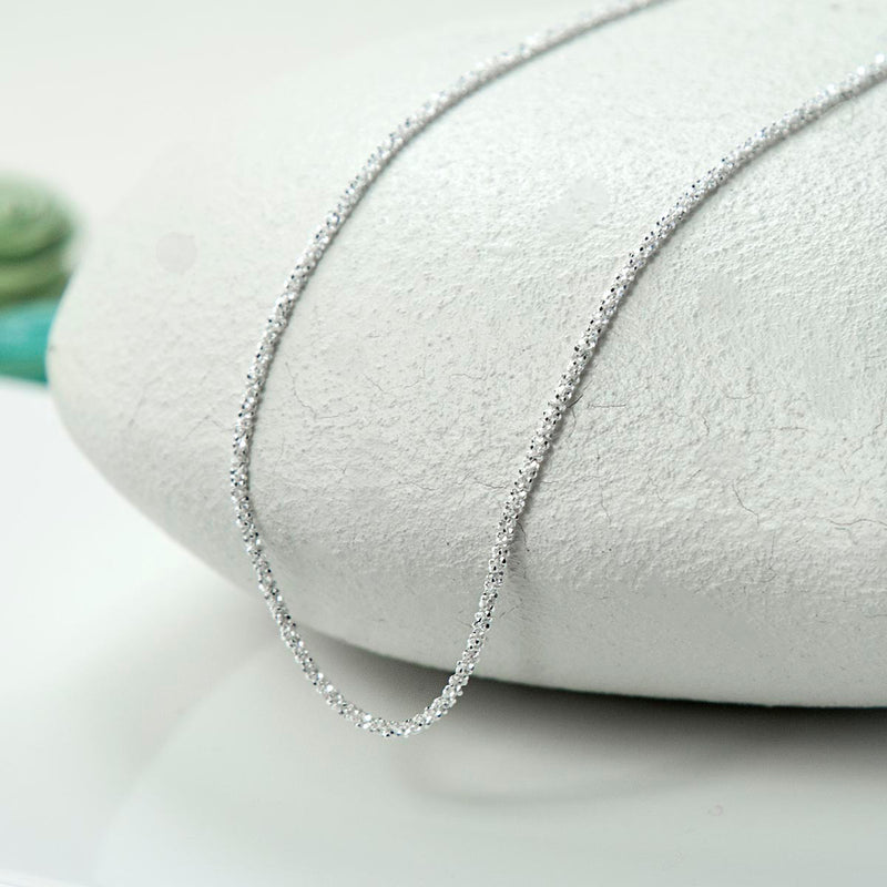 Sterling Silver Diamond Cut Chain