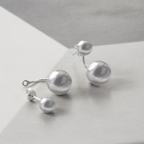 Sterling Silver Venus Stud Drop Earrings