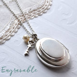 Silver Double Oval Locket