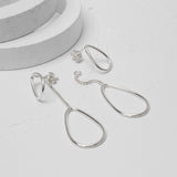 Sterling Silver Loops Two Way Ear Studs