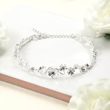Sterling Silver Forget Me Not Bracelet