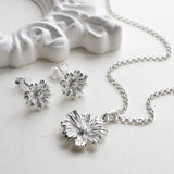 Sterling Silver Cosmos Flower Necklace