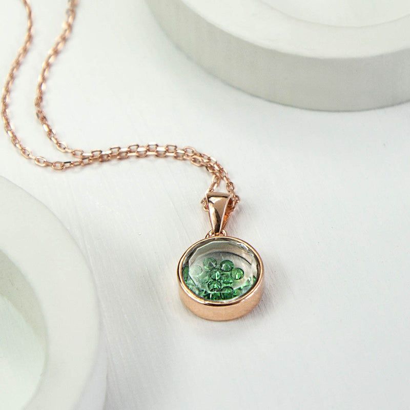 Sterling Silver and Rose Gold Glass Locket