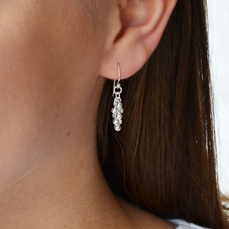 Sterling Silver Grappe Earrings